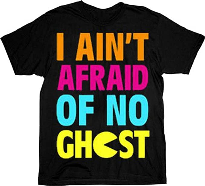 I Ain't Afraid Of no Ghost Men's Pac-Man Tee, S, XXL