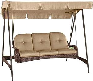 Garden Winds Azalea Ridge 3-Person Swing Replacement Canopy Top Cover