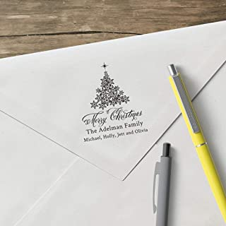 product image for World's Favorite Custom Address Stamp – Three Designing Women, Merry Christmas The Adelman Family (CSH10022S) (Design Only)