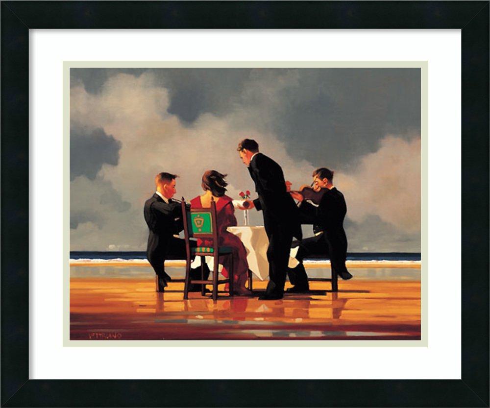 アートフレーム印刷' Elegy for a Deadアドミラル' by Jack Vettriano Size: 21 x 18 (Approx), Matted ブラウン 1644699 Size: 21 x 18 (Approx), Matted Mezzanotte Black,mat:smooth Bright White B0134N3BUK