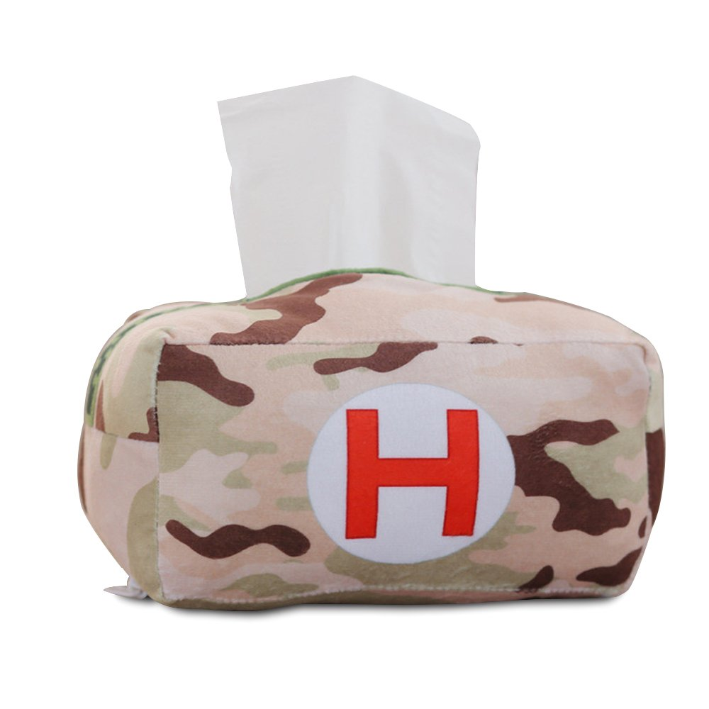 COGEEK Facial Tissue Box Tissue Holder With First Aid Kit Shape Pumped Cartons Tissue Box by COGEEK