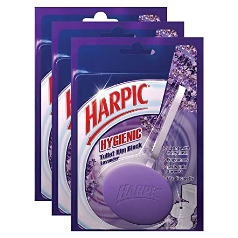 Harpic Hygienic Toilet Rim Block - 26 g (Pack of 3, Lavender)
