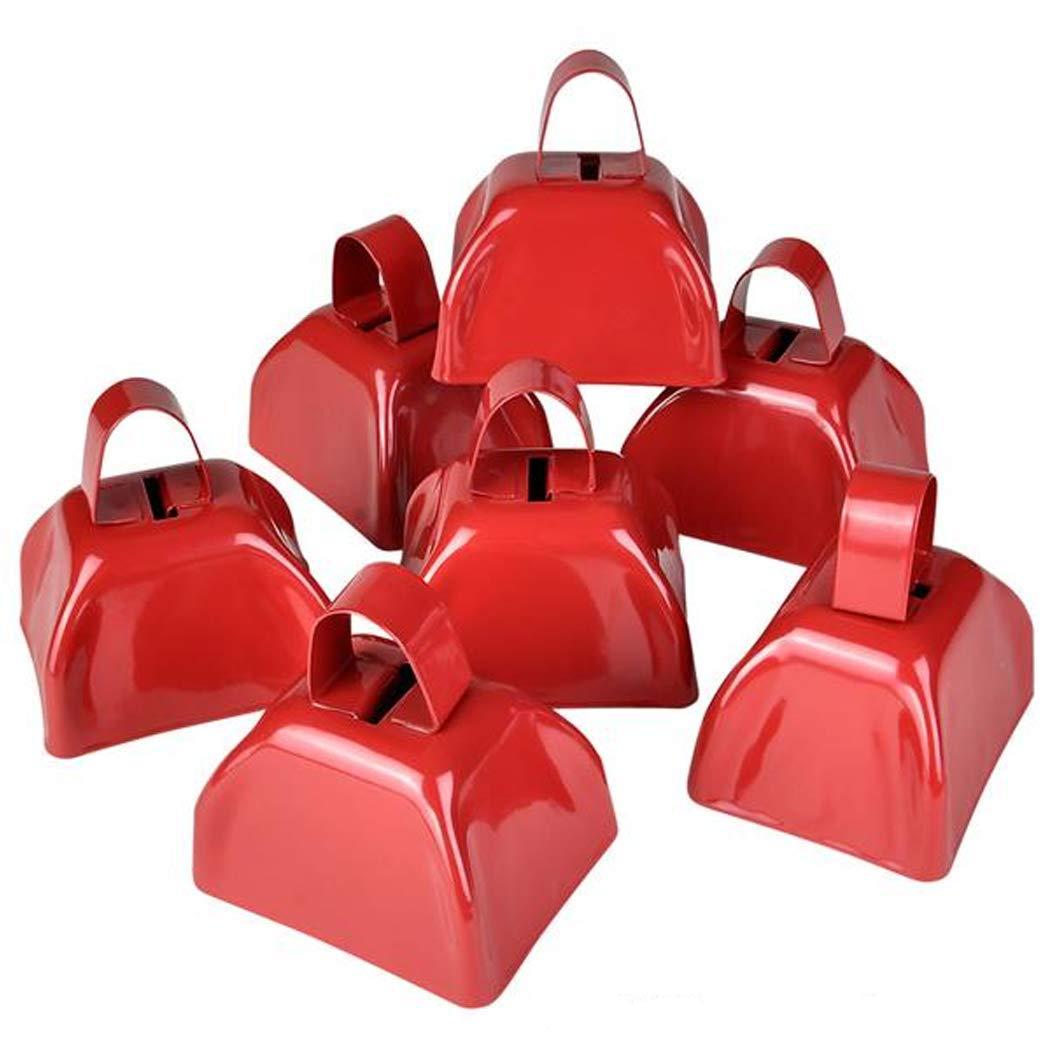 3'' Metal Cowbell (3 dozen) - Red by Rhode Island Novelty
