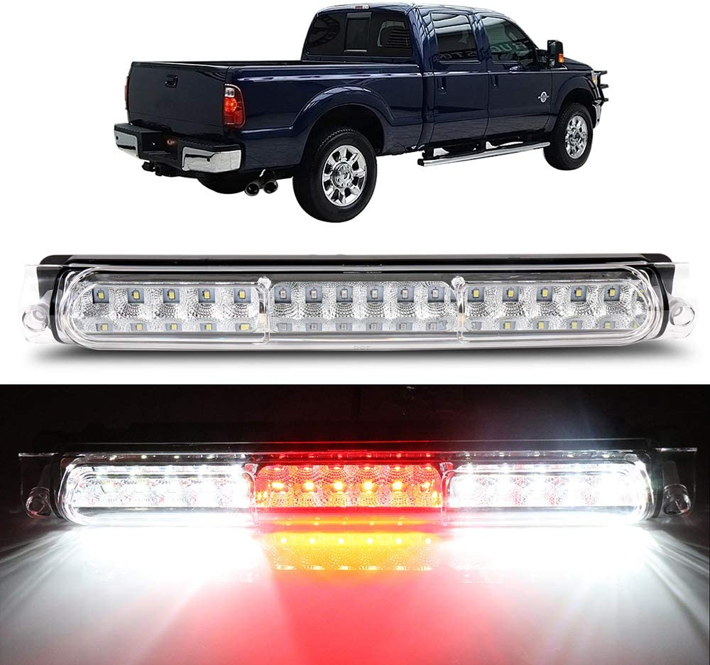 F-250 Classic,00-05 Ford Excursion High Mount Brake Light LED 3rd Tail Brake//Cargo Light F-250,2004 Ford F-150 Chrome+Clear LUJUNTEC Fit for 97-03 Ford F-150