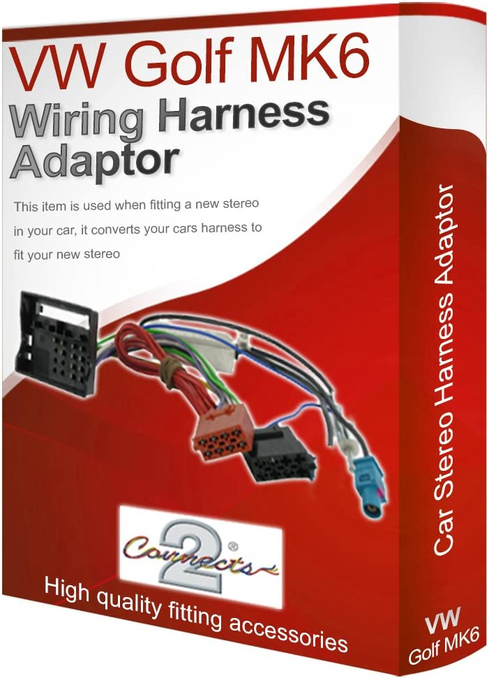 vw golf mk6 cd radio stereo wiring harness adapter lead loom iso converter  wire: amazon.de: auto  amazon.de
