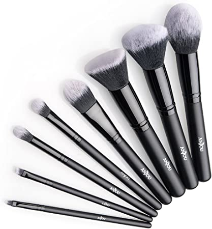 Anjou Brochas Maquillaje Profesional 8 Piezas, Set Brochas de ...