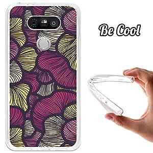 BeCool Funda Gel Flexible LG G5 Arte Moderno Rosa Carcasa Case Silicona TPU Suave