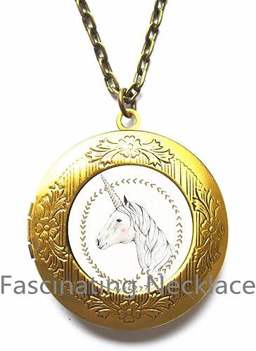 Horse Necklace Mythical Jewelry Unicorn Locket Necklace