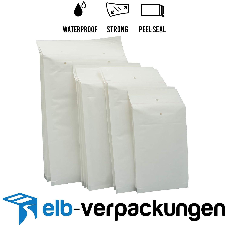 elb-verpackungen 320 x 455 - Luftpolstertaschen//Versandtaschen 10//K - 100 St/ück Luftpolsterumschl/äge in weiss