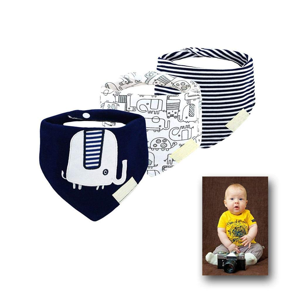 3-Pack Baby Bibs Upsimples Baby Bandana Drool Bibs for Drooling and Teething 100 Organic Cotton and Super Absorbent Hypoallergenic Bibs for Baby Boys Baby Shower Gift Set by dissylove