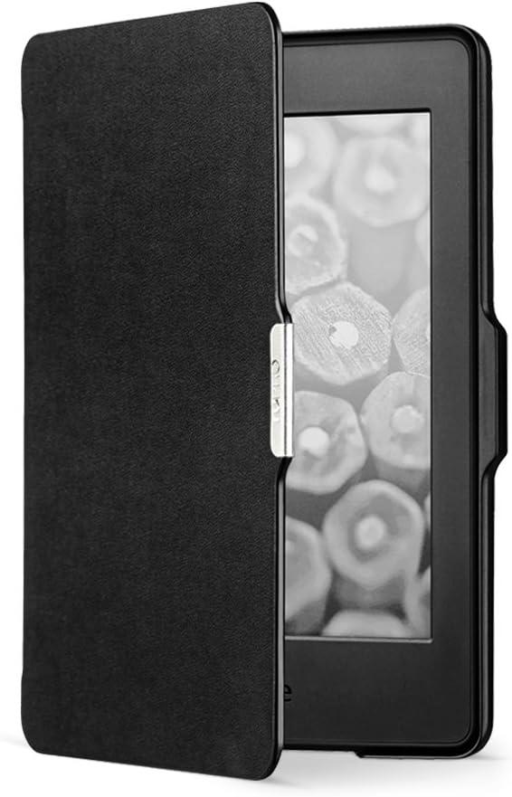 NuPro Negro compatible con todas las generaciones de Kindle Paperwhite Funda fina para Kindle Paperwhite