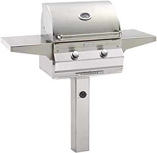 product image for Fire Magic Aurora Series 24-Inch Grill On In-Ground Post (A430s-5EAP-G6), Analog Thermometer, Propane