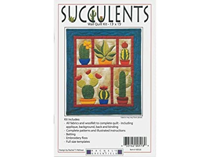 249808ccb951 Image Unavailable. Image not available for. Color  Rachel s Of Greenfield  K0518 Succulents Wall Quilt Kit Pattern None