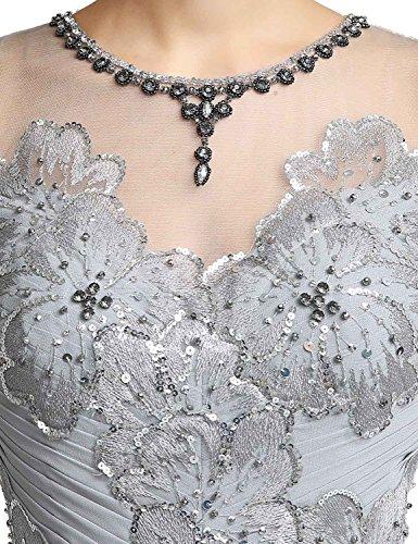 Sarahbridal Damen Lang Mermaid Ballkleid Spitze Abendkleider ...