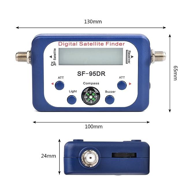 ATPWONZ Localizador de señal de satélites digital para orientar la parabólica TVHD Medidor Digital Pantalla LCD: Amazon.es: Electrónica