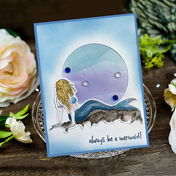 Always Be Yourself Mermaid Seemann Segelboot Kompass Leuchtturm Muschel Transparente Stempel f/ür Kartengestaltung Dekoration und DIY Scrapbooking