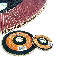 Neiko 4-1/2-Inch Flap Disc, Aluminum Oxide, Flat, 120 Grit, 10 Pieces