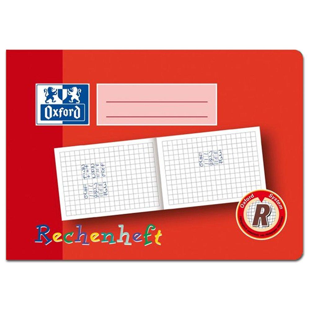 Oxford Rechenheft, DIN A5 quer, Lineatur: R / 10mm kariert 100050106 SC-MS-312501600
