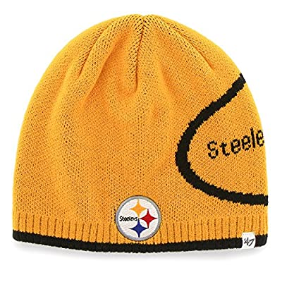Pittsburgh Steelers 47 Brand Peaks Uncuffed Knit Hat Beanie
