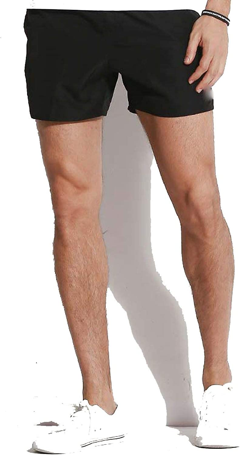 Board Shorts Men Swimwear Solid Beach Surf Swimming Trunks Male Liner Bathing Suits Drawstring Quick Dry Swimsuits