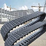Pair Rubber Tracks 381x101.6x42 Cat 247 247B 257 257B Deere skid steer excavator