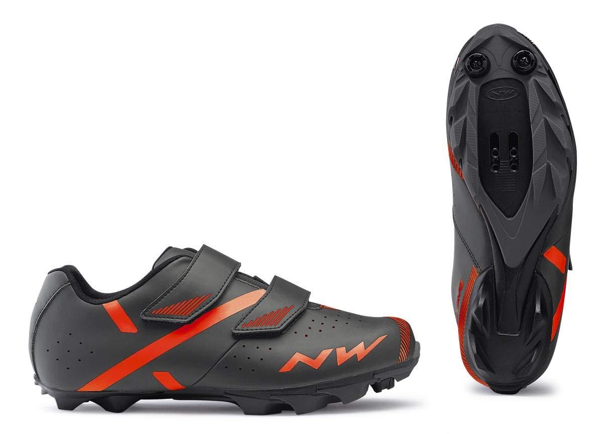 Northwave Spike 2 MTB Fahrrad Schuhe grau Orange 2019