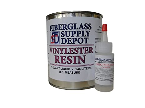 Amazon com : Vinylester Resin Quart with 30cc Hardener (MEKP