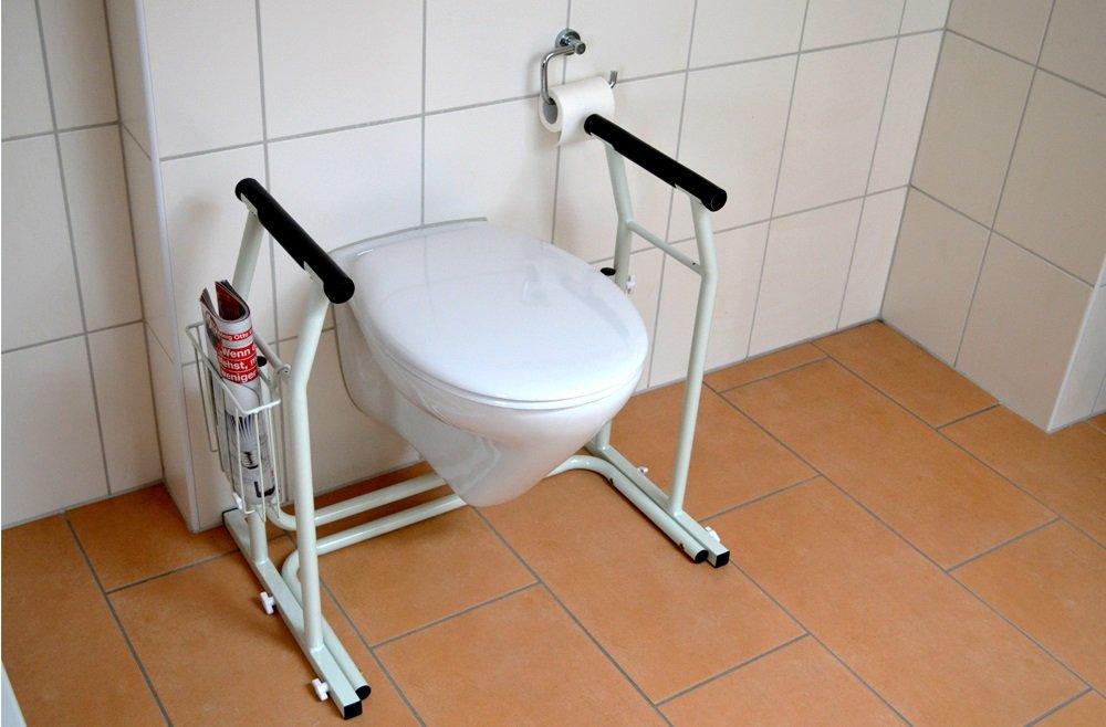 Mobile wc klo aufstehhilfe rutschfest mit ablagekorb toiletten