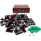 Melamin Chinesisches Pai Gow-Spiel Domino-Spiel mit 32 Plättchen und 2 Würfel