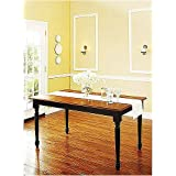 Better Homes and Gardens Autumn Lane Farmhouse Black/Oak Dining Table by Better Homes & Gardens