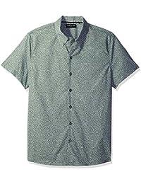 Kenneth Cole New York Men's Short Sleeve Printed Camp Shirt