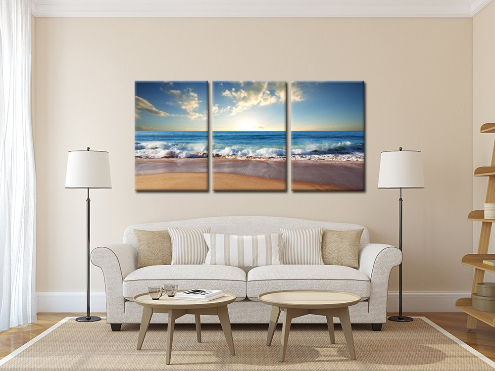 Coastal Dunes by The Macneil Studio, 16×32-Inch Canvas Wall Art