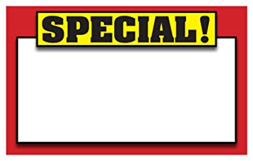 """sales tags template Amazon.com : RETAIL SPECIAL SIGNS, Template 5.5""""x3.5"""" Blank Sale ..."""