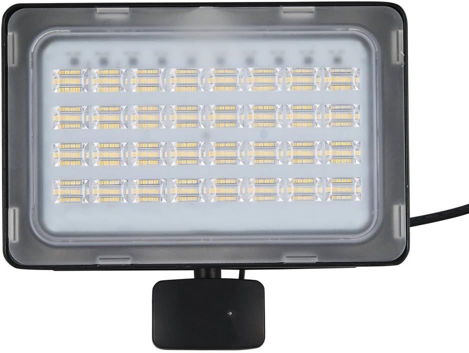 100W LED Flood Light PIR Motion Sensor Warm White Outdoor Spot Garden Lamp