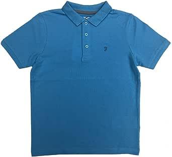 Farah Niños Polo Azul Claro Camiseta Siglos 7 Años hasta 15 Años - Azul Claro, 7-8 Años 122-128cm: Amazon.es: Ropa y accesorios