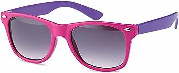 Wayfarer Kindersonnenbrille 2 farbig, 4 Kombinationen Gläser-smoke- 100% UV400 Schutz