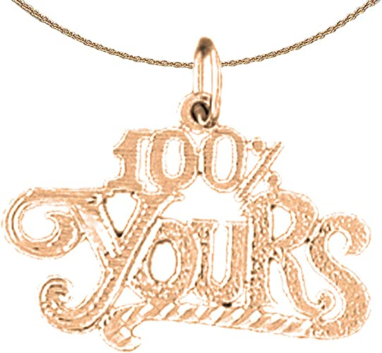 14K Rose Gold-plated 925 Silver Special Lady Saying Pendant with 18 Necklace Jewels Obsession Saying Necklace