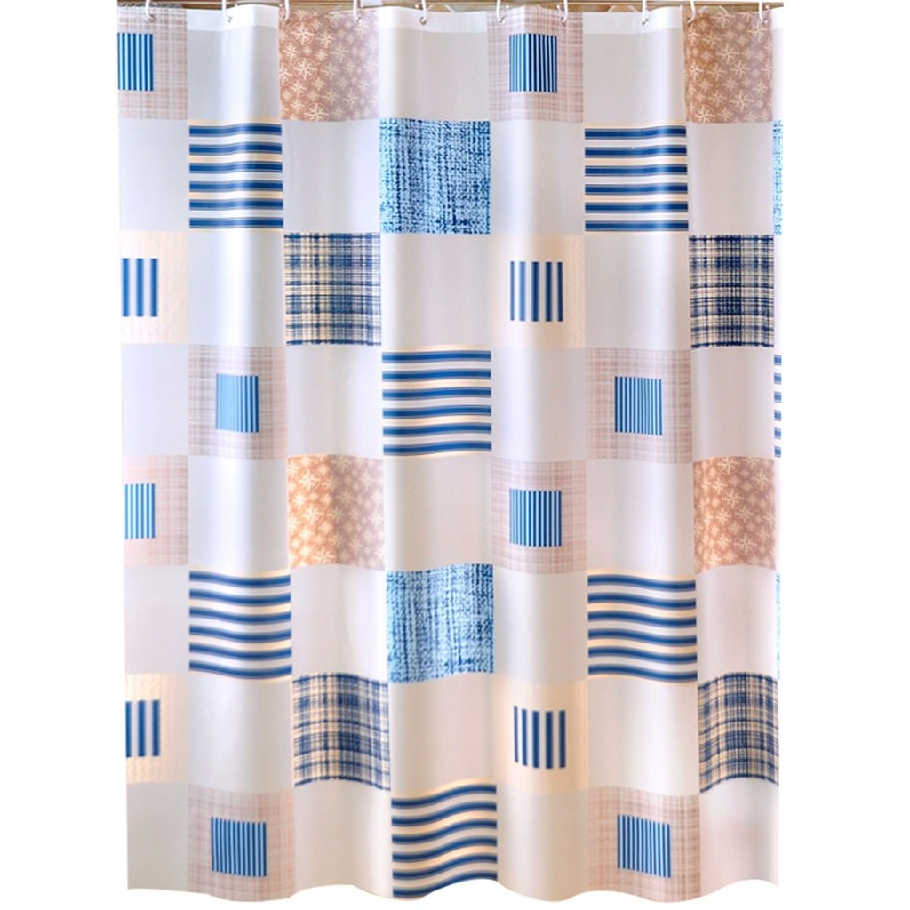 Curtain Bathroom Shower Curtain, partition Wall Insulation Curtain, Mildew Waterproof Padded Shower Curtain Shower Equipment (Size : 180180cm)