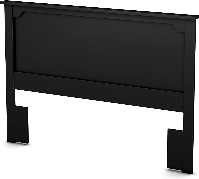 South Shore Furniture 54/60'' Fusion Headboard, Full/Queen, Pure Black