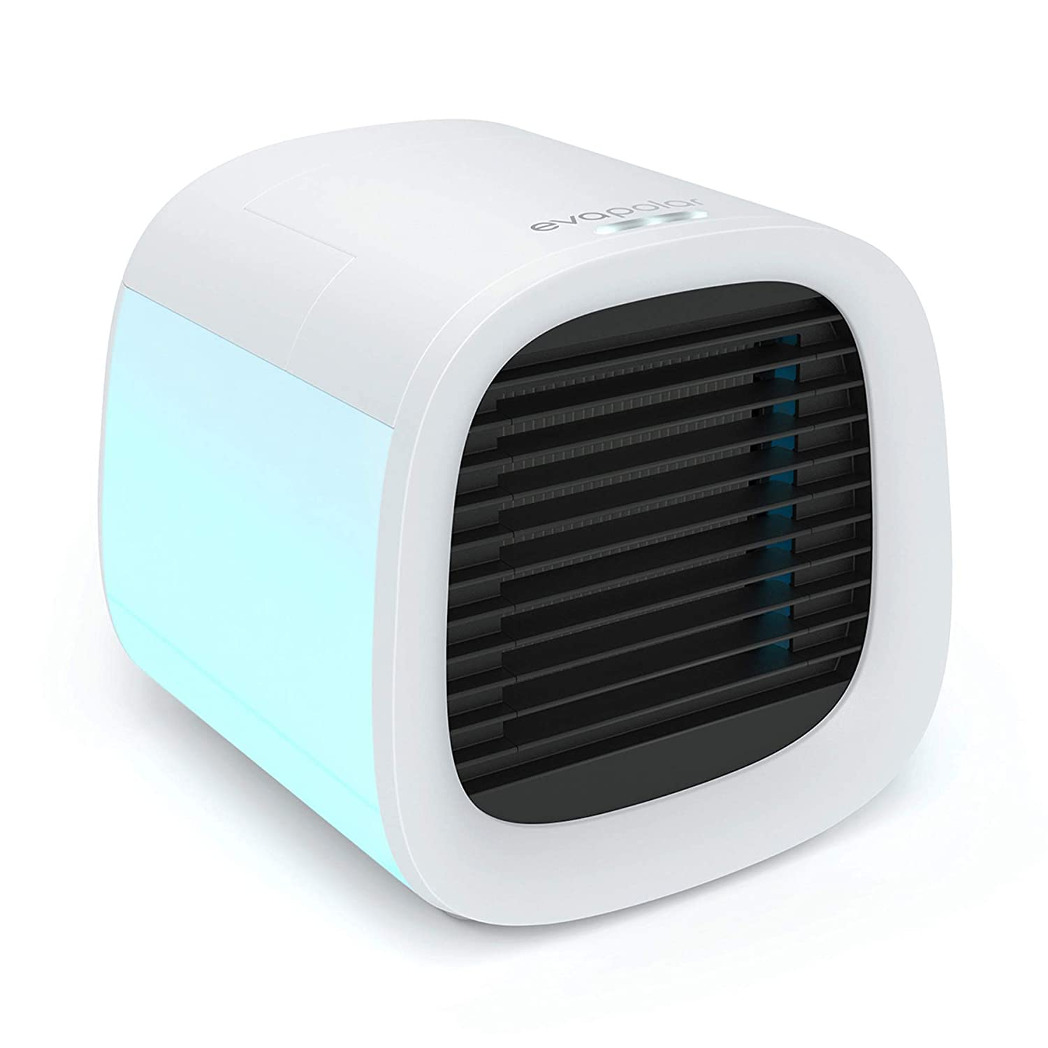vapolar evaCHILL Personal Evaporative Air Cooler and Humidifier Portable Air Conditioner Fan, White