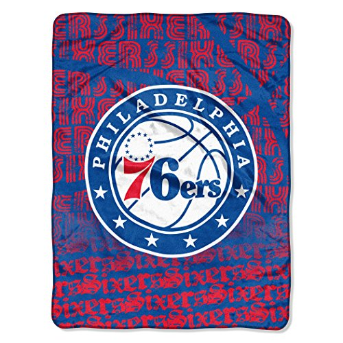 Officially Licensed NBA Philadelphia 76ers Redux Micro Raschel Throw Blanket, 46
