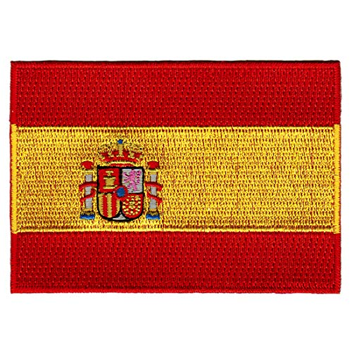 Spain Flag Patch - Spain Flag Embroidered Patch Spanish Iron-On National Emblem