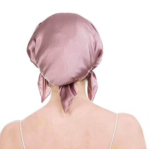 f0e73d2f312 Emmet 100% Mulberry Silk Night Sleep Cap Bonnet for Hair Loss Women  Sleeping Hat 19 Momme Soft with Adjustable Elastic Ribbon  Amazon.co.uk   Clothing