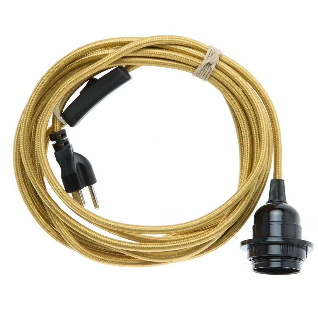 Color Cord Company スワグライト ペンダントライト用コードキット 多色 CS-002-719 B06Y1X6MK2 ブラス ブラス