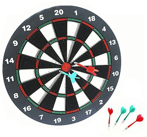 AOQING 16 Inches Safety Dart Board With Soft Safety Darts   Great Games For  Kids Relax
