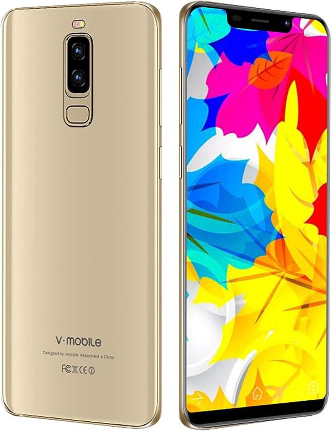 Moviles Libres Baratos,V Mobile S9 5.84 Pulgadas 2GB RAM+16GB ROM,3800mAh Bateria,13MP Camara,Face ID,Pantalla Completa 19:9,Dual Sim,Android 7.0 3G+ Smartphone Baratos Libres(Oro): Amazon.es: Electrónica