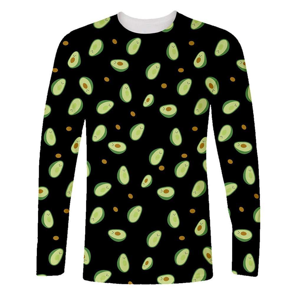 Cathalem Womens Casual Sweatshirt Cute Avocado Design Printed Long Sleeve Hoodie Tops