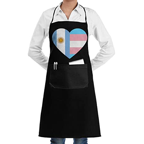 ouyjian Aprons for Men Argentina Flag Transgender Pride Flag ...