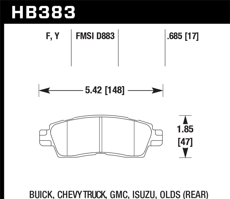 Hawk Performance HB383Y.685 LTS Brake Pad