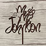 Country Wedding Personalized Wooden Cake Topper Kissing Couple Birdal Shower Customized Acrylic Cake Stand Top Decorating